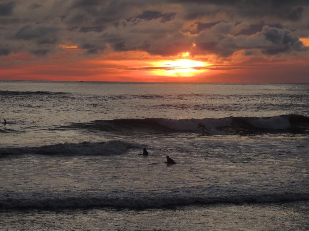 Sunset surf. Las Penitas, Nicaragua