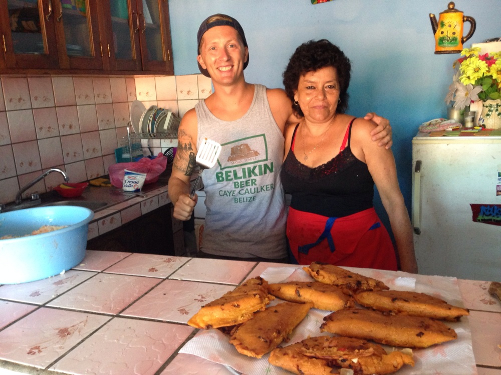 Dave and Mama after a cooking victory