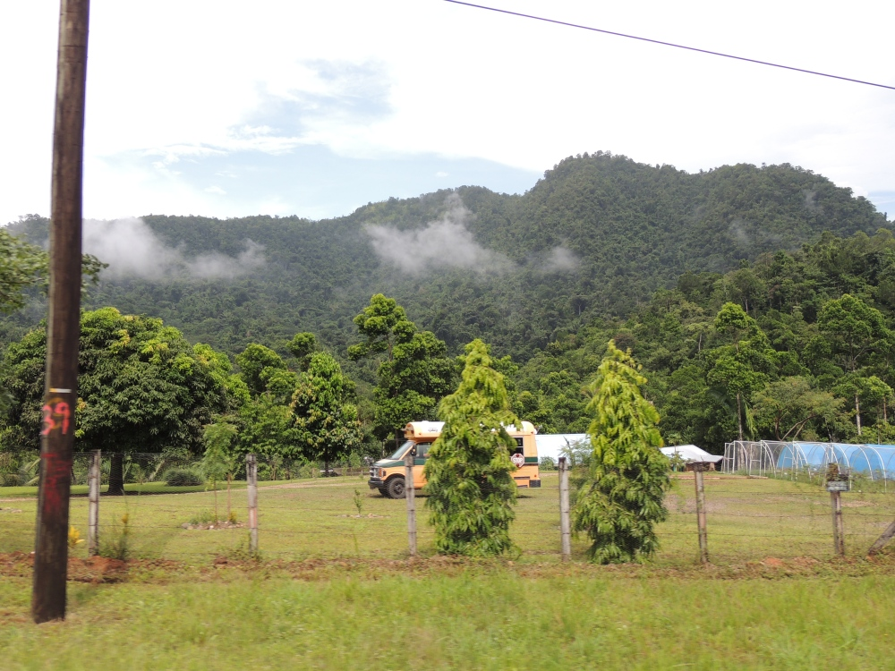 A view of the high hills of Belize. Was pretty shocked to see low laying clouds. Loved it.